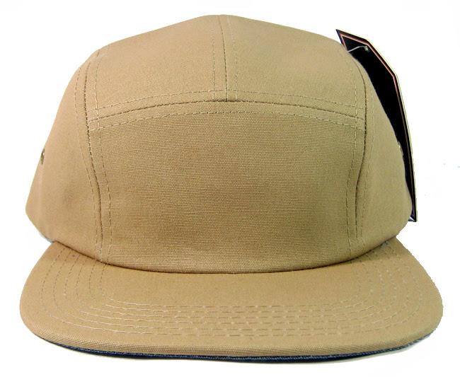 Wholesale Blank 5 Panel Camp Hats Caps Khaki Bulk