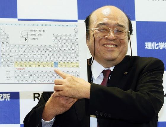 O cientista Kosuke Morita, do centro Riken no Japão. Foram descobertos quatro novos elementos químicos (Foto: AP)