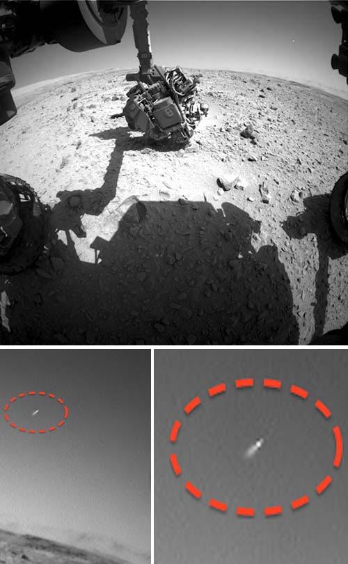 ovni marte El rover Curiosity de la NASA fotografía un OVNI en Marte