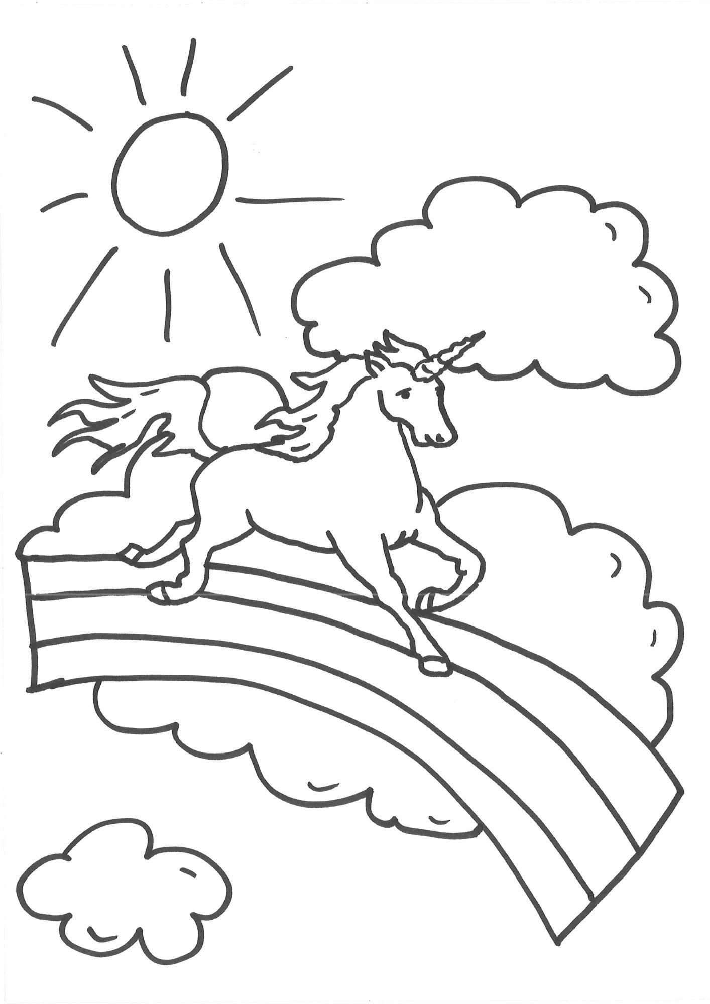 Coole Einhorn Ausmalbilder - Malvorlagen