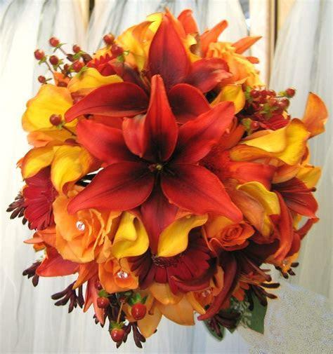 Flowers & Decor, yellow, orange, red, brown, gold, Bride