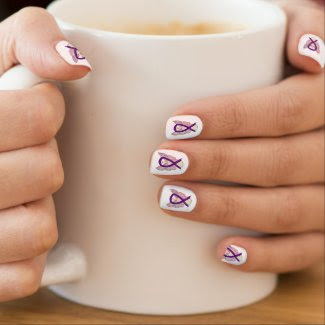 Purple Awareness Ribbon Custom Nails Wraps Art Minx® Nail Art