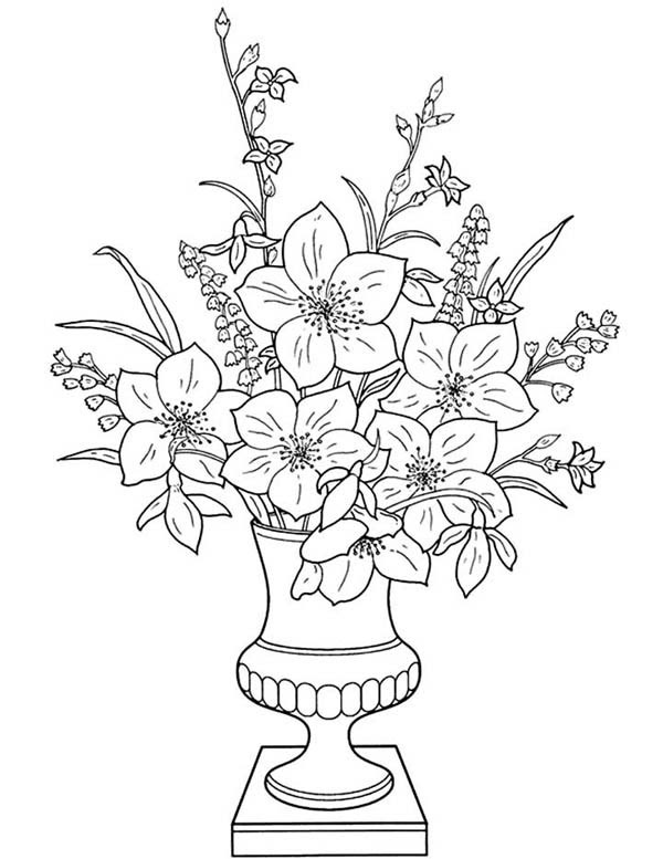 Flower Vase Drawing For Kids At Getdrawingscom Free For Personal