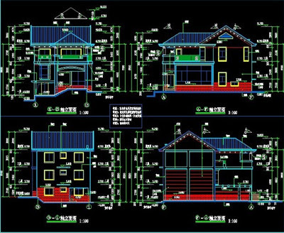 Three Tier Villa Building Plans Free Download Autocad Blocks Cad 3dmodelfree Com