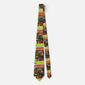 the scream ugly christmas neck tie