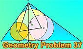 Problema 37: Triangulo rectángulo, Altura, Incentros, Ortocentro.