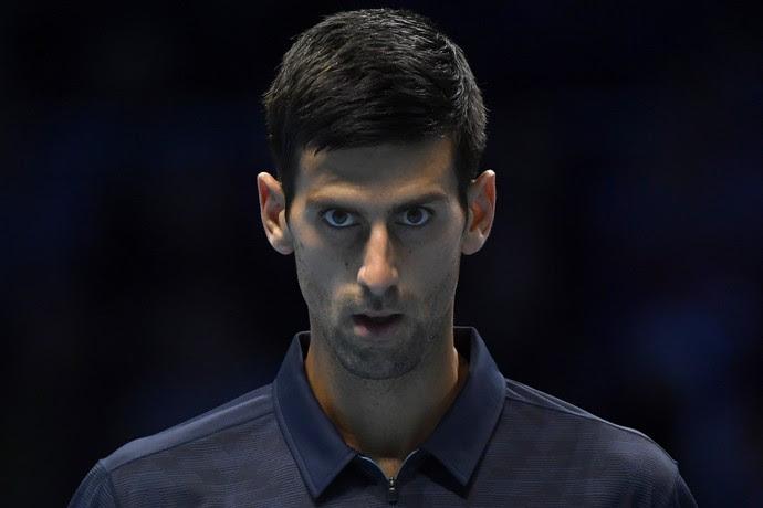 Novak Djokovic na vitória sobre David Goffin pelo ATP Finals (Foto: Reuters / Toby Melville Livepic)