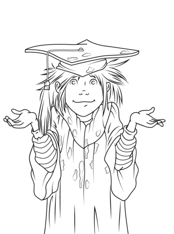junie b jones is a graduation girl coloring page  free printable coloring pages