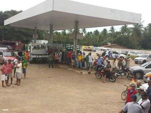 Crime aconteceu em um posto de combustíveis da região (Foto: André Feijó/TV Gazeta)