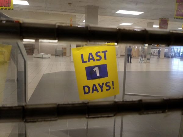 The Sears department store at Puente Hills Mall permanently closed down on September 3, 2018.