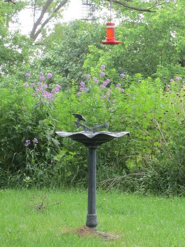 Bird Bath and Hummingbird Feeder