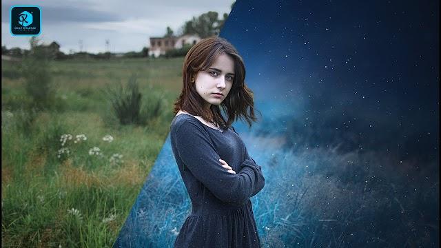 Photoshop Effect | Glowing Girl Color Grade Photoshop Manipulation Tutorial | Okay Bhargav