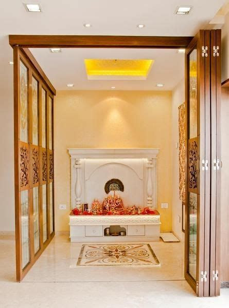 puja room  modern indian apartments love  folding