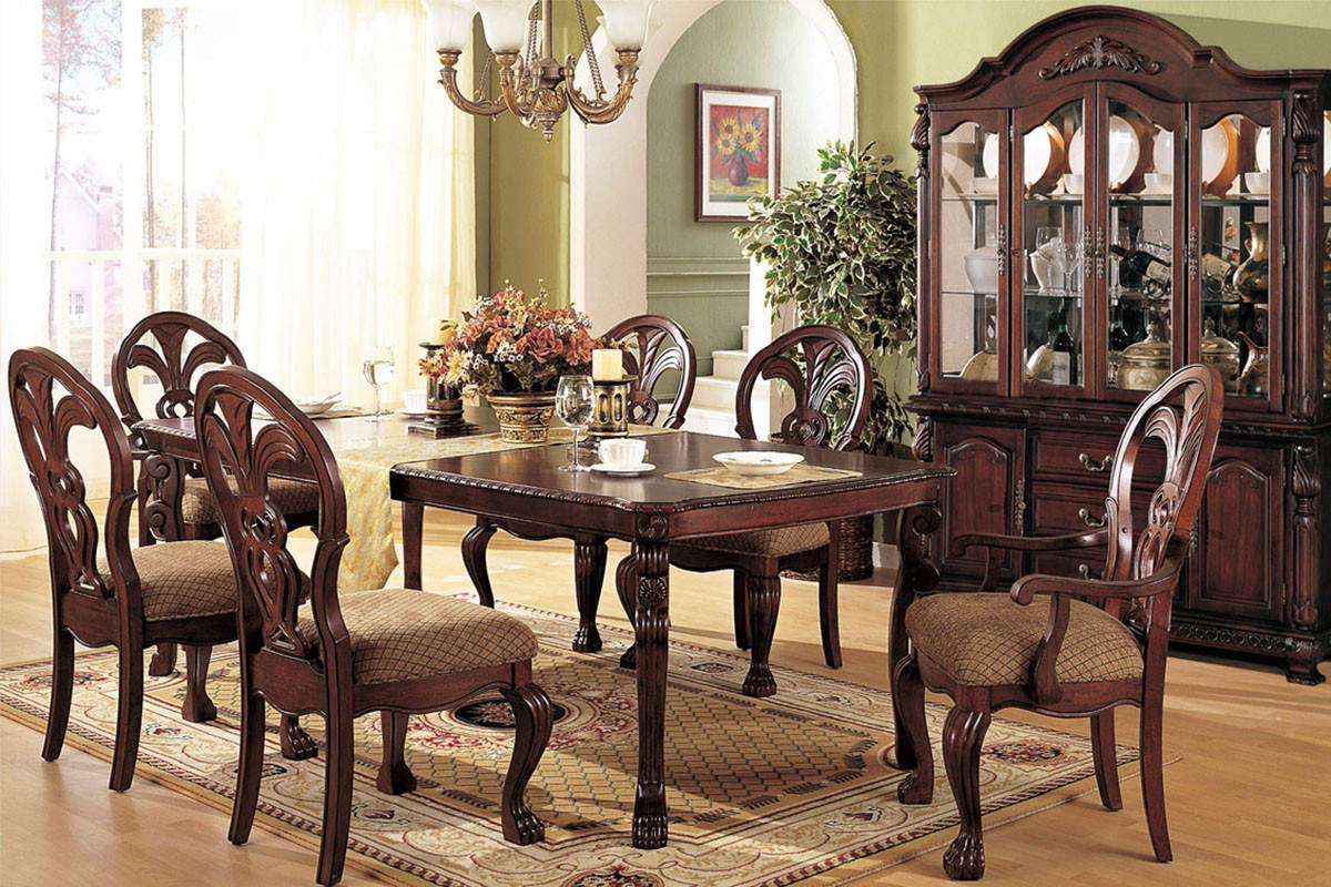 Lavish Antique Dining Room Furniture Emphasizing Classic ...