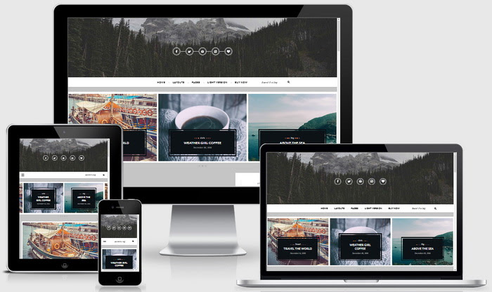 Responsive View - Maple Blogger Template