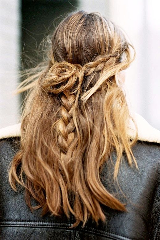 3 Le Fashion Blog 21 Braid Ideas For Long Hair Half Up Bun Wavy Braided Hairstyle Via Vanessa Jackman