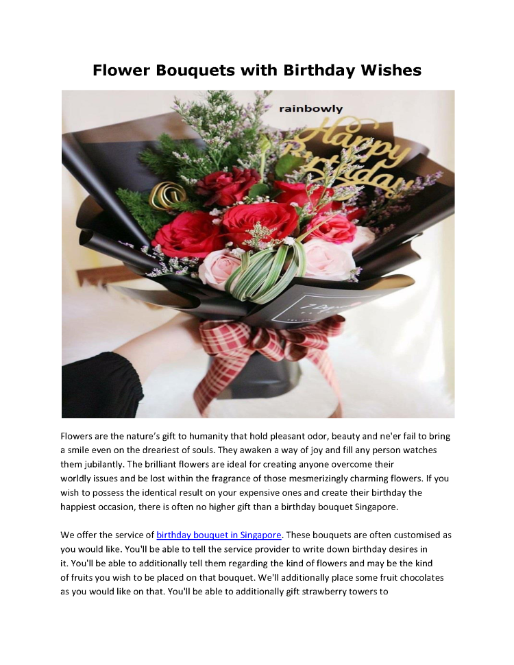 Birthday Gift Ideas And Availability In Singapore Authorstream