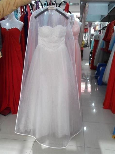 New All White No Logo Cheapest Wedding Dress Gown Bag