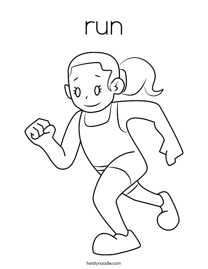 Run - Free Colouring Pages