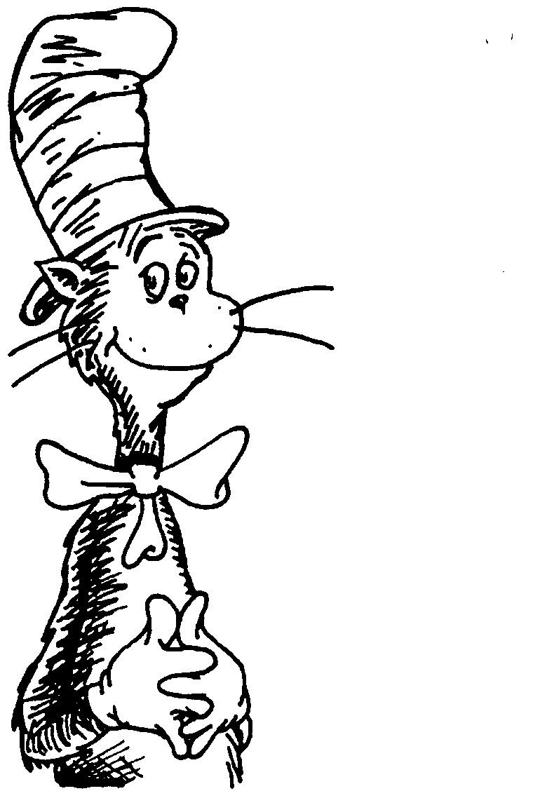 Adult Printable Cat In The Hat Coloring Pages For Kids ...