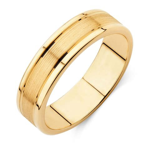 mens wedding band  kt yellow gold