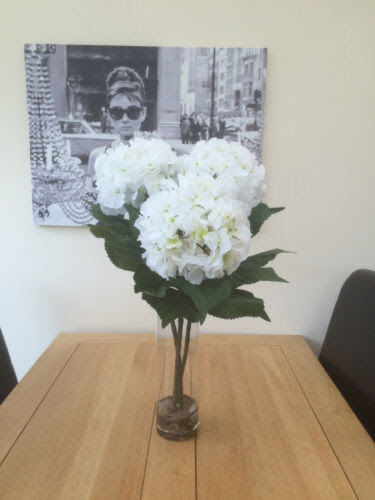 Dried Artificial Flowers Gorgeous Large Artificial Flower Arrangement White Hydrangea In Vase With Water Home Furniture Diy Accessnews Ng