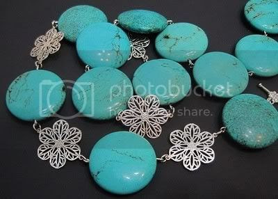 Beautiful turquoise with flower necklace