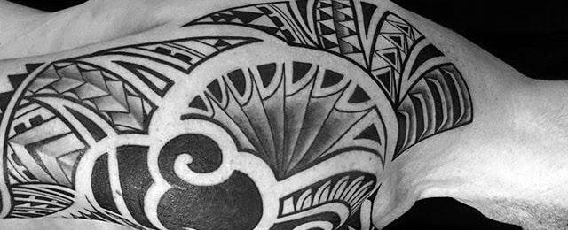 80 Tribal Shoulder Tattoos For Men Masculine Design Ideas