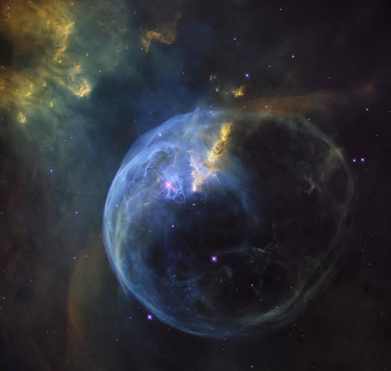 "Embargoed until April 21, 2016 - 15:00 G...Embargoed until April 21, 2016 - 15:00 GMT / A handout photo released by the European Space Agency shows the Bubble Nebula, also known as NGC 7653, which is an emission nebula located 11 000 light-years away.  This stunning new image was observed by the NASA/ESA Hubble Space Telescope to celebrate its 26th year in space. / AFP PHOTO / ESA/Hubble / STR / RESTRICTED TO EDITORIAL USE - MANDATORY CREDIT ""AFP PHOTO / ESA/NASA/Hubble Heritage Team"" - NO MARKETING NO ADVERTISING CAMPAIGNS - DISTRIBUTED AS A SERVICE TO CLIENTS / EMBARGOED UNTIL April 21, 2016, 17:00 CESTSTR/AFP/Getty Images"