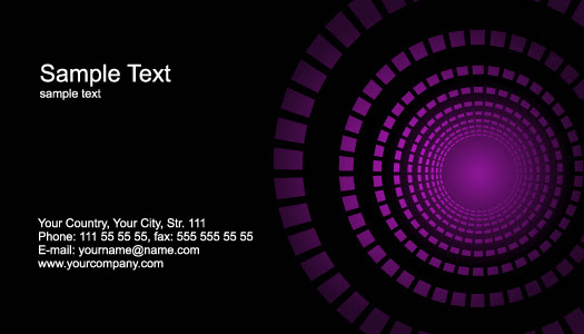 6 business cards models abstract design