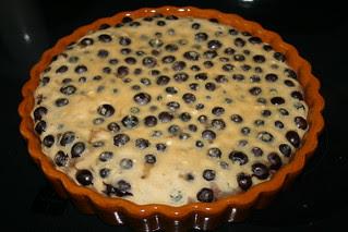 Drunken Blueberry Custard Cake