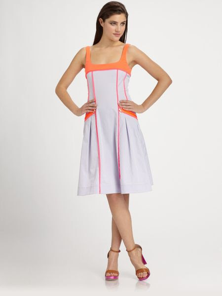 nanette lepore runway pool party dress in purple lilac