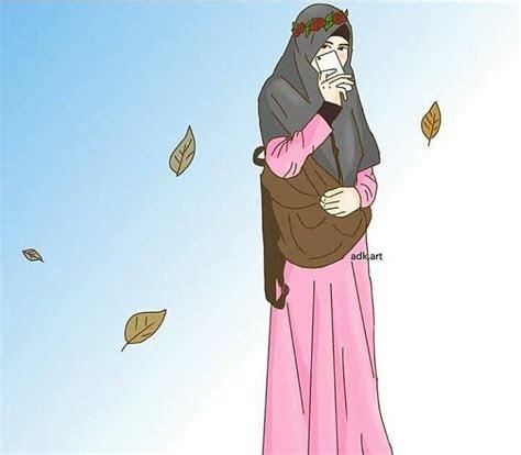 gambar kartun muslimah terbaru kumpulan gambar hd