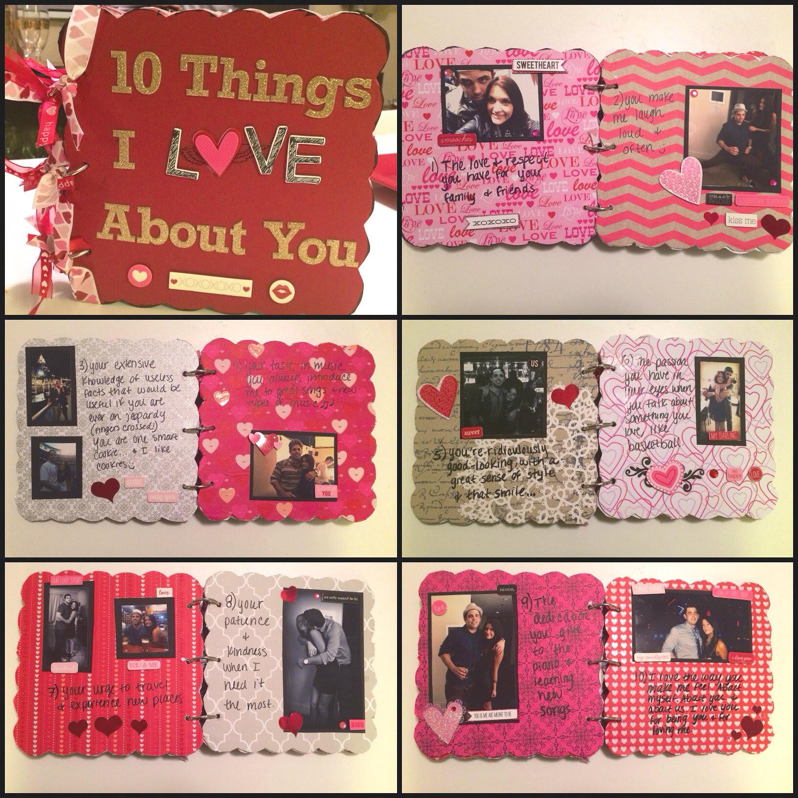 Boyfriend Gift Idea Chipboard Scrapbook Twinspiration
