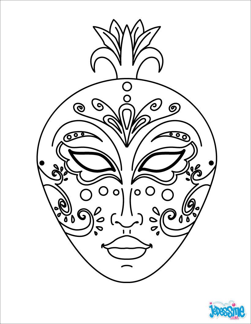 Masque De Carnaval à Imprimer Et Colorier