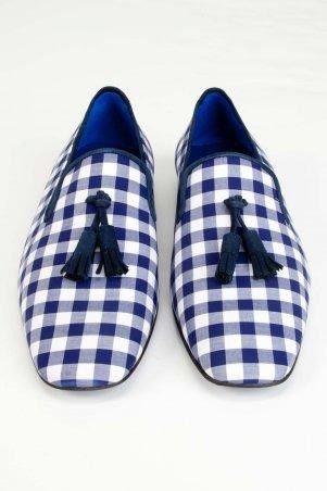 blue gingham slippers