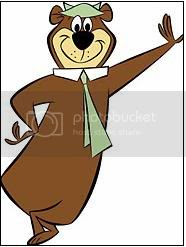Chillin' against the wall Yogi Bear Clipart.