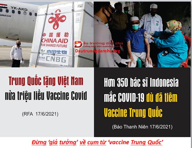 Đừng 'giả tưởng' về cụm từ 'vaccine Trung Quốc'