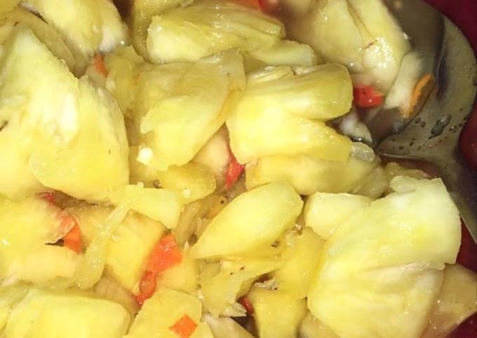 Cara Gampang Menyiapkan Asinan nanas simple Anti Gagal
