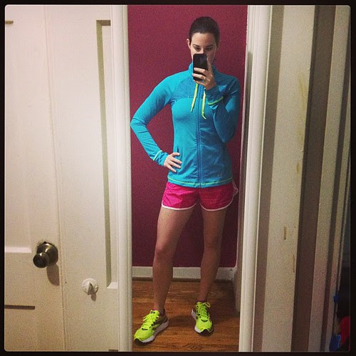 Wearing all the bright colors for this morning's workout.