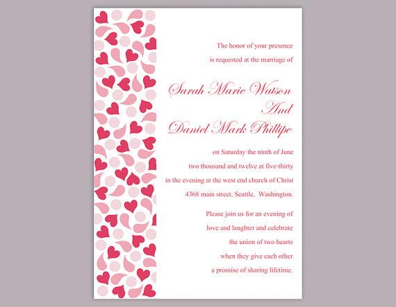 DIY Wedding Invitation Template Editable Text Word File Download ...