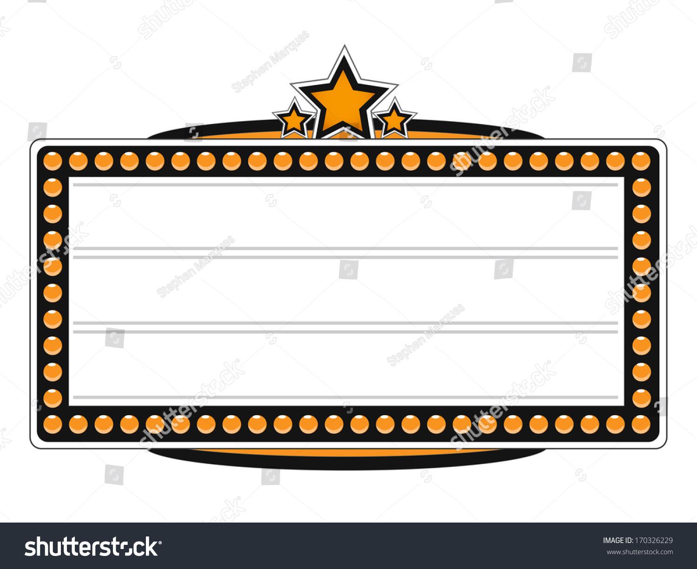Blank Cinema Billboard Vector Design Stock Vector 170326229 ...