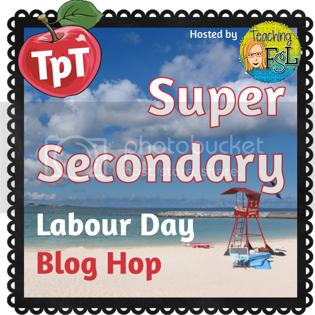Teaching FSL - Secondary Blog Hop