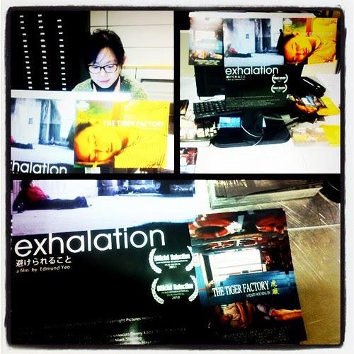 EXHALATION & TIGER FACTORY items at Rotterdam Film Festival press desk #iffr
