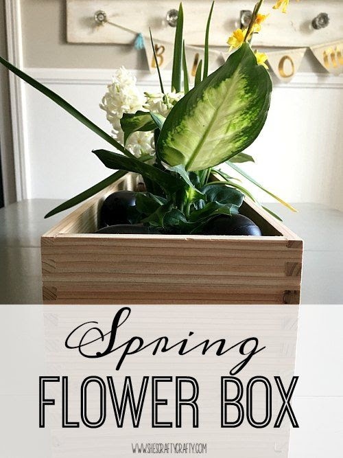flower box, plants, centerpiece, table, chalkboard eggs