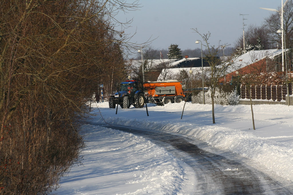 Cleaning of winterroads with salt