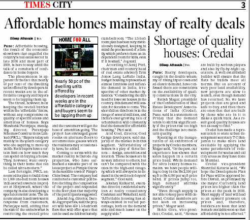 Affordable Homes in Pune - Shortage of Quality Houses in Pune