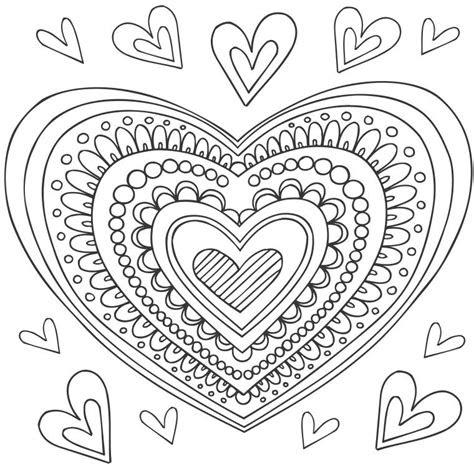coloriage mandala coeur  colorier dessin  imprimer