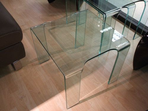 400 x 400 mm Glass Side Table