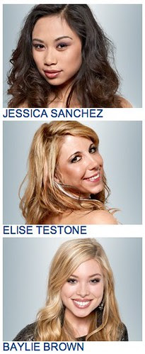 My American Idol Top 3 Girls 2/28 by stevegarfield